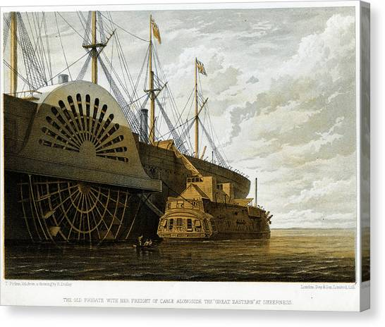Atlantic Cable Laying Canvas Print by Kean Collection