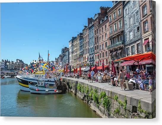 Avant Port, Honfleur, Normandy, France Canvas Print by Lisa S. Engelbrecht