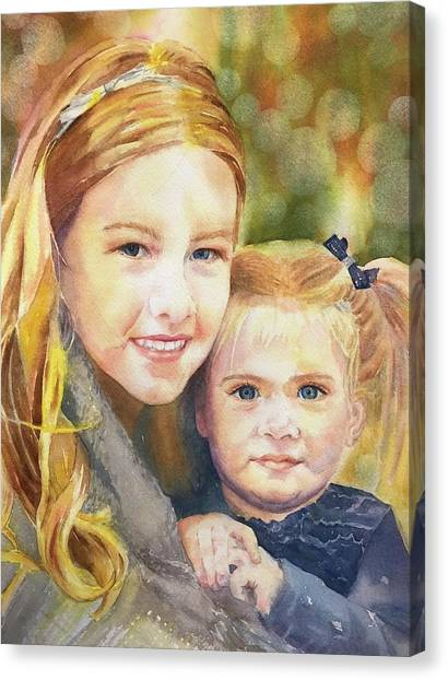Belle And Maddie Canvas Print