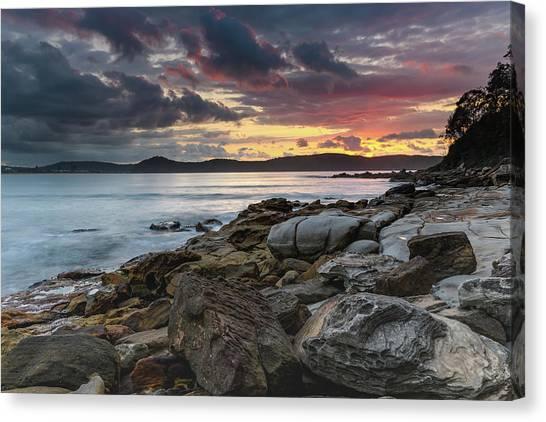 Colours Of A Stormy Sunrise Seascape Canvas Print
