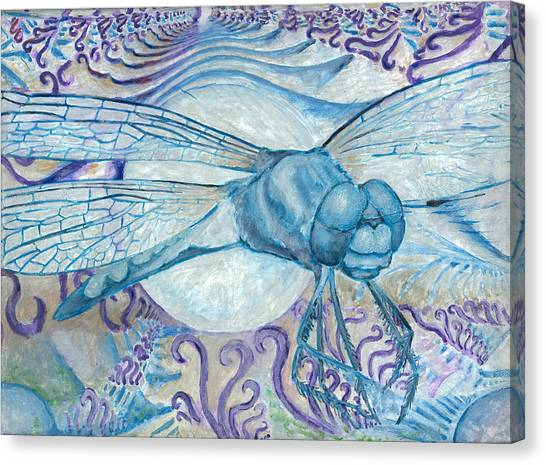 Dragonfly Moon Canvas Print