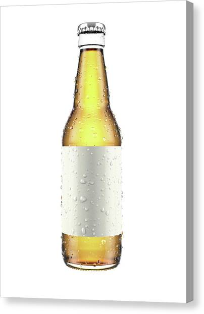 Cider Canvas Print - Generic Alcohol Bottled Product by Allan Swart