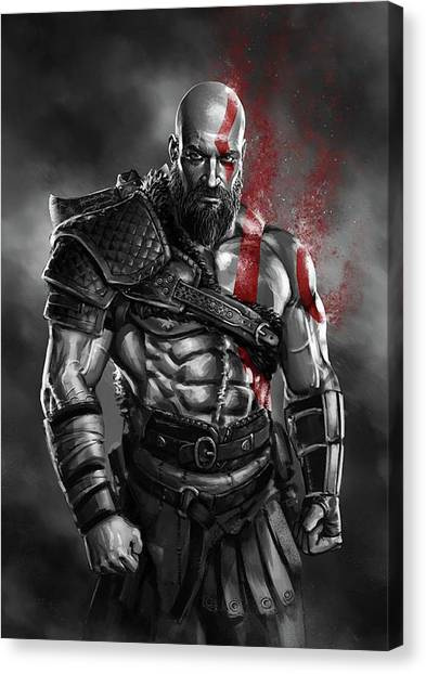 God Of War Canvas Print - God Of War by Geek N Rock