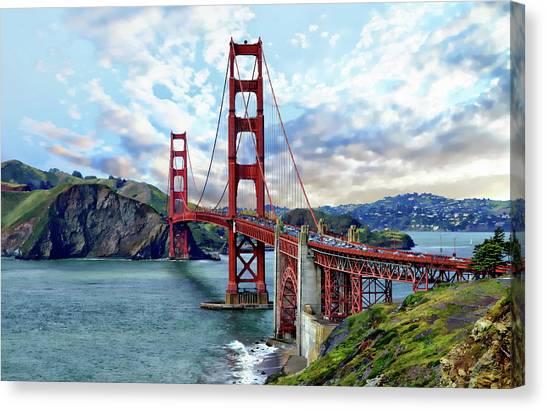 Canvas Print featuring the photograph Golden Gate Bridge by Anthony Dezenzio
