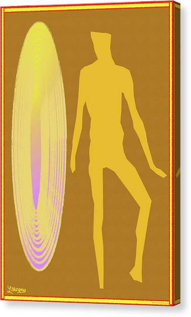 Male Nudes Canvas Print - Golden Mist by Laurence Wolfe