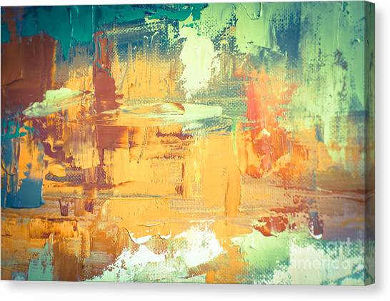 Brush Stroke Canvas Print - Hand Drawn Oil Painting. Abstract Art by Sweet Art