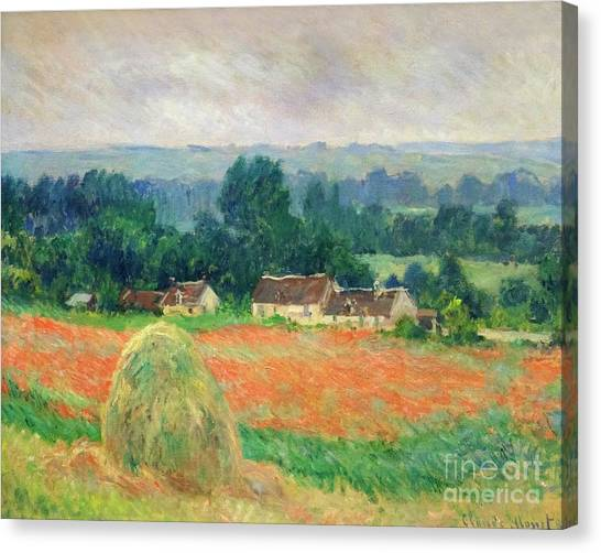 State Hermitage Canvas Print - Haystack At Giverny by Peter Barritt