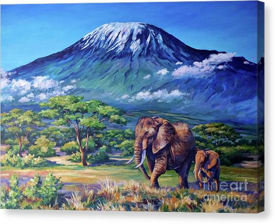 Mount Kilimanjaro Canvas Print - Homeward Bound by John Clark