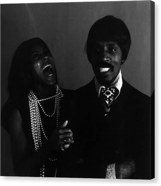 Ike And Tina Turner Canvas Print by Jack Robinson