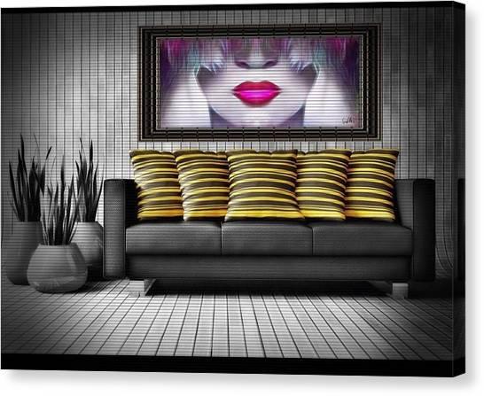 Lady Fashion Beauty Canvas Print