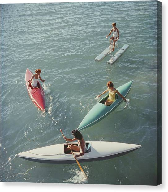 Lake Tahoe Trip Canvas Print by Slim Aarons
