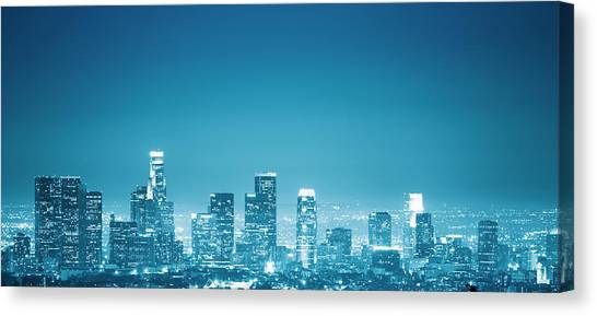Los Angeles Skyline Canvas Print by Franckreporter