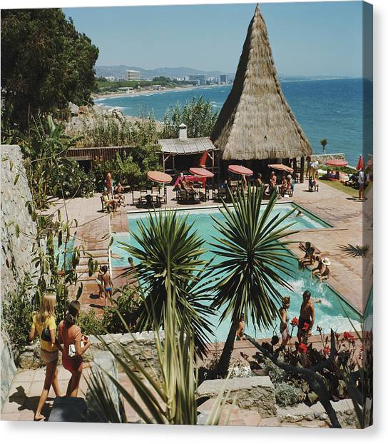 Marbella Club Canvas Print