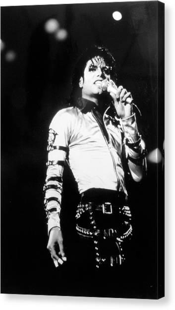 Michael Jackson Canvas Print by Afro Newspaper/gado