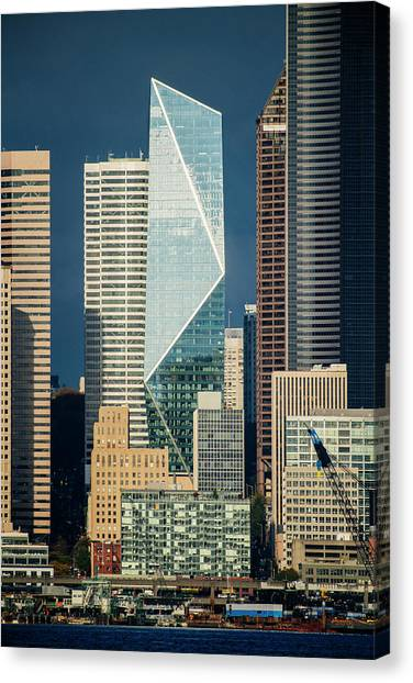 Canvas Print - Modern Architecture In City, Seattle by Panoramic Images