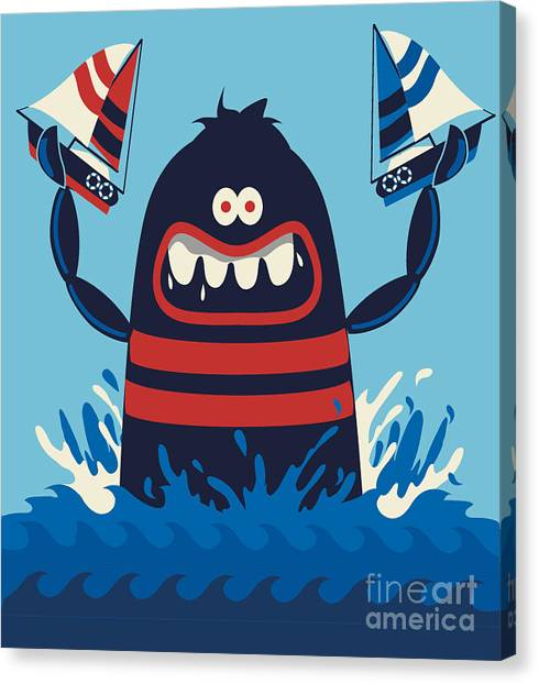 Zoology Canvas Print - Monster Vector Design by Braingraph