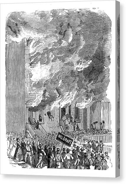 New York City Draft Riots, 1863 Canvas Print by British Library