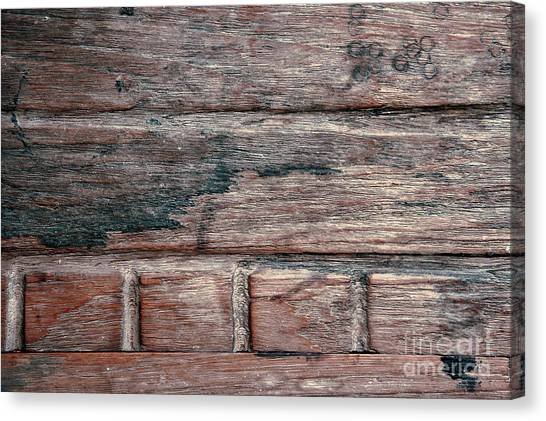 Canvas Print - Old Wood Background by Tom Gowanlock