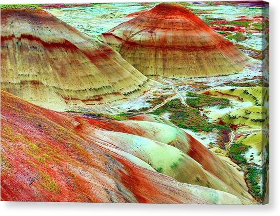 Painted Hills John Day Fossil Beds Canvas Print