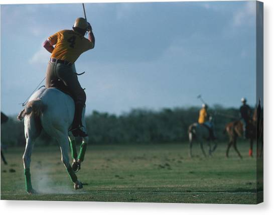 Polo Match Canvas Print by Slim Aarons