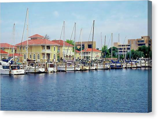 Canvas Print featuring the photograph Port Royal by Anthony Dezenzio