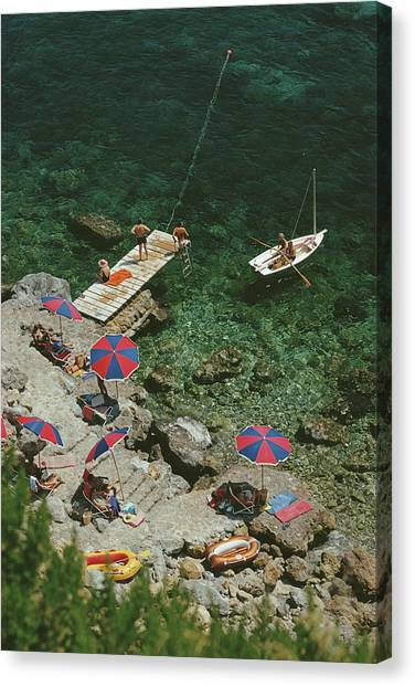 Porto Ercole Canvas Print by Slim Aarons