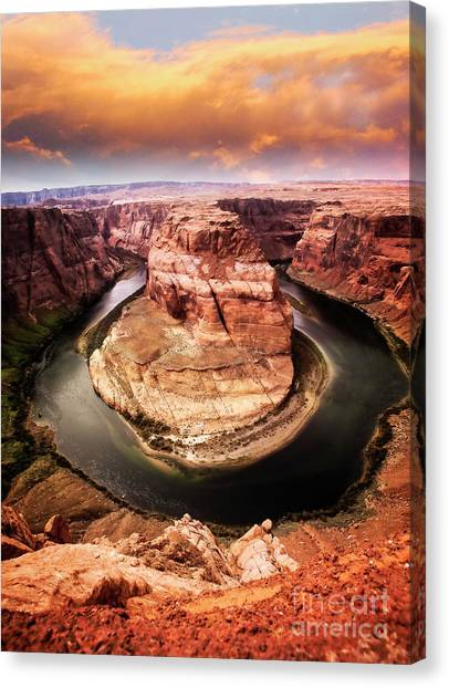 Canvas Print featuring the photograph River Bend by Scott Kemper