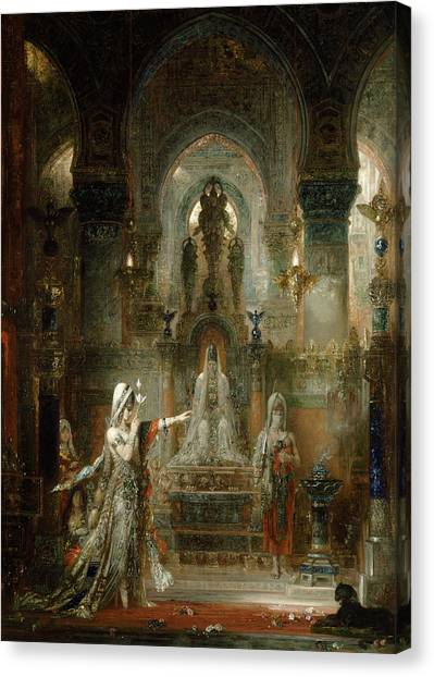 Apparition Canvas Print - Salome Dancing Before Herod by Gustave Moreau