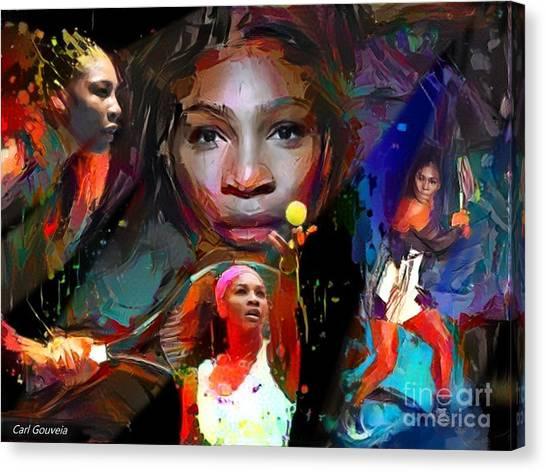 Serena Williams Canvas Print - Serena Williams by Carl Gouveia