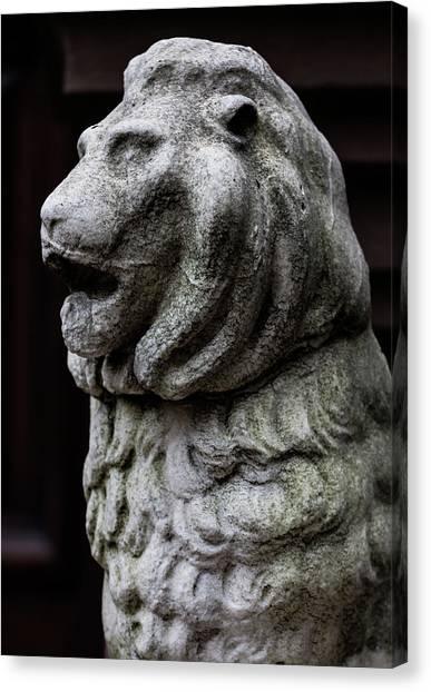 Stone Lion Canvas Print by Robert Ullmann