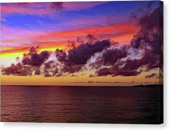 Canvas Print featuring the photograph Sunset by Tony Murtagh
