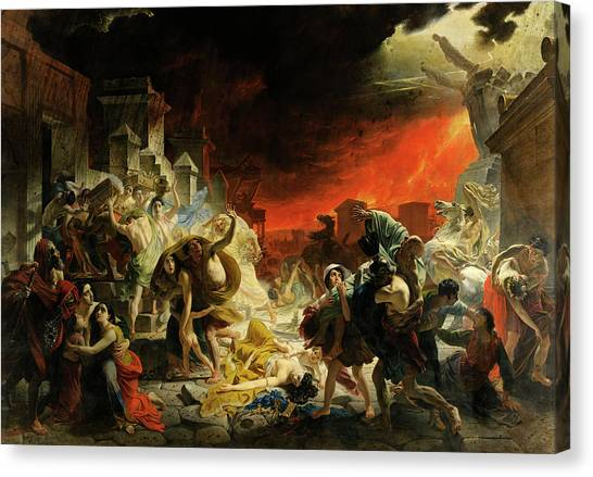 Mount Vesuvius Canvas Print - The Last Day Of Pompeii by Karl Bryullov