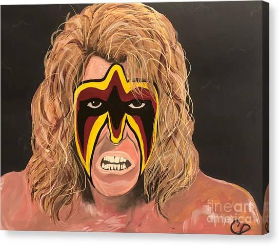 Hulk Hogan Canvas Print - The Ultimate Warrior by Chris Dippel