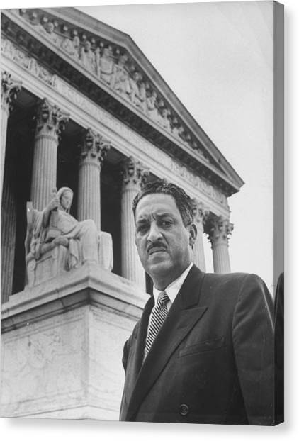Thurgood Marshall Canvas Print