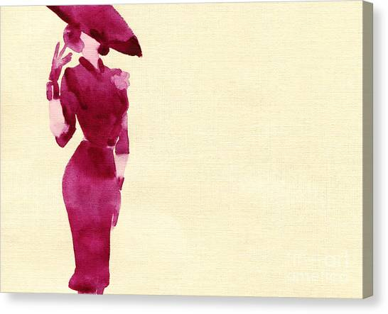 Sensual Canvas Print - Woman With Elegant Dress .abstract by Anna Ismagilova