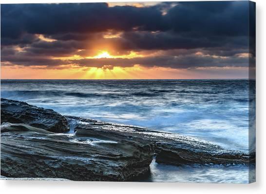 A Moody Sunrise Seascape Canvas Print