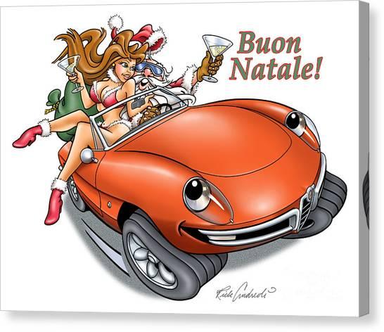 2009 Alfa Club Christmas Card Canvas Print