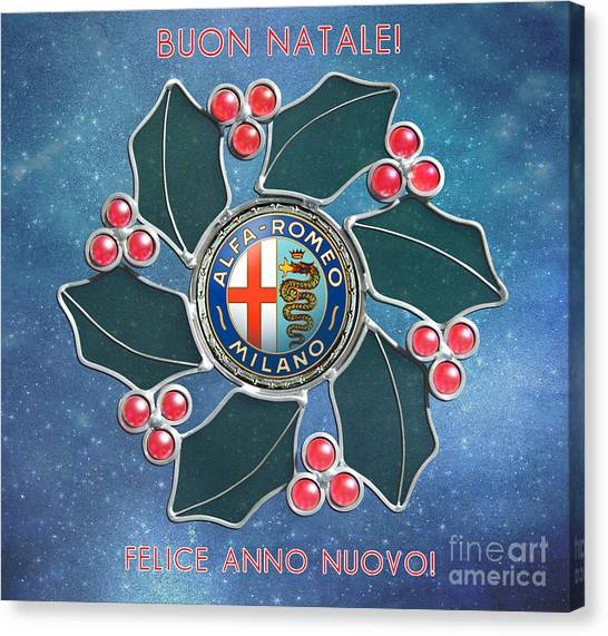 2014 Alfa Club Christmas Card Canvas Print