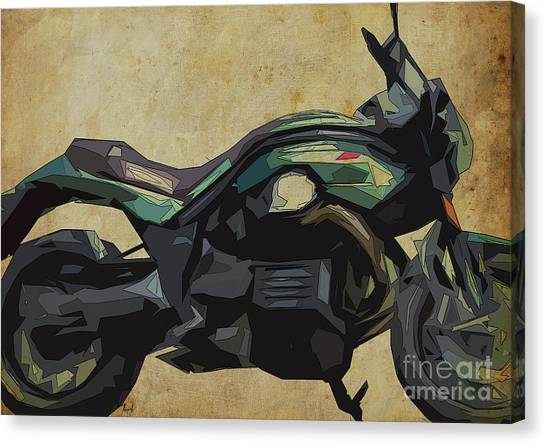 Arte Canvas Print - 2015 Moto Guzzi Griso, Original Abstract Art by Drawspots Illustrations