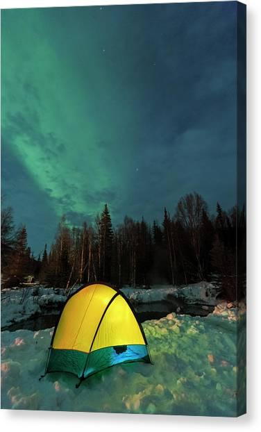 Aurora Borealis, Northern Lights Canvas Print by Stuart Westmorland