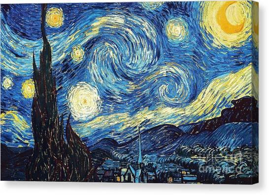 Starry Night By Van Gogh Canvas Print