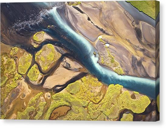 Iceland Aerial View Canvas Print by Werner Van Steen