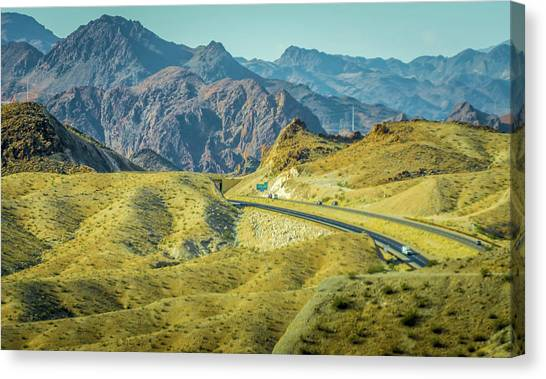 Canvas Print featuring the photograph Red Rock Canyon Landscape Near Las Vegas Nevada by Alex Grichenko