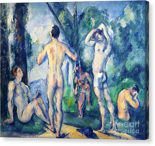 State Hermitage Canvas Print - Bathers by Peter Barritt