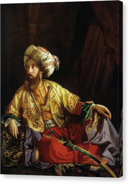 Emir Canvas Print - Emir Of Lebanon by Jozsef Borsos