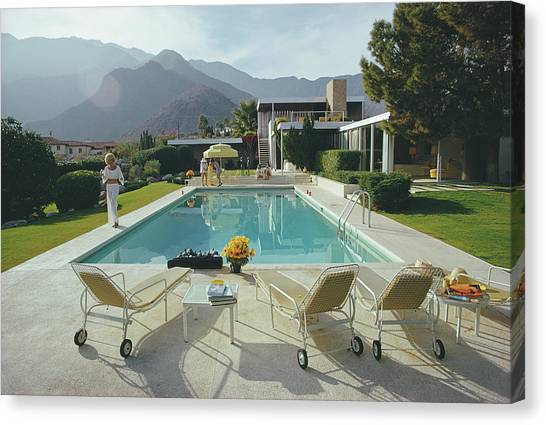 Kaufmann Desert House Canvas Print by Slim Aarons