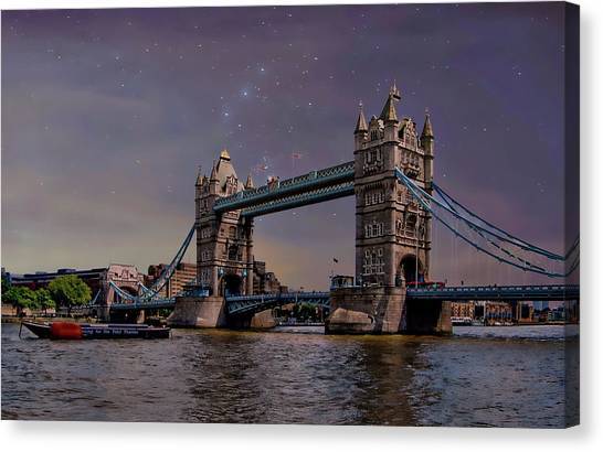 Canvas Print featuring the photograph London Tower Bridge by Anthony Dezenzio