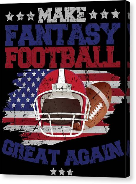 80187701 Commissioner Canvas Print - Make Fantasy Football Great Again Funny Trump  Apparel by Michael S