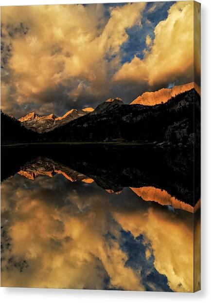 Marsh Lake At Sunrise, John Muir Canvas Print by Adam Jones