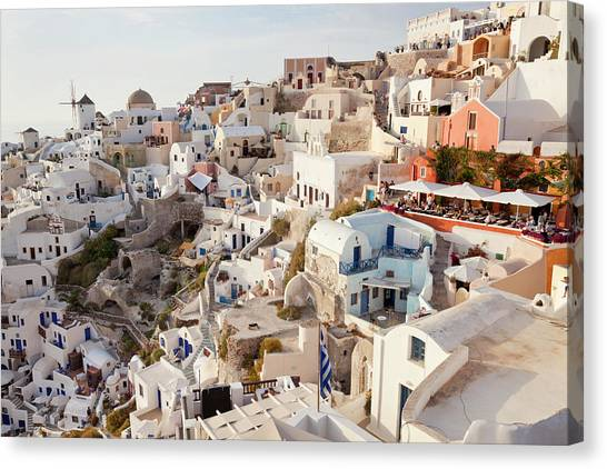 Oia, Santorini, Cyclades Islands, Greece Canvas Print